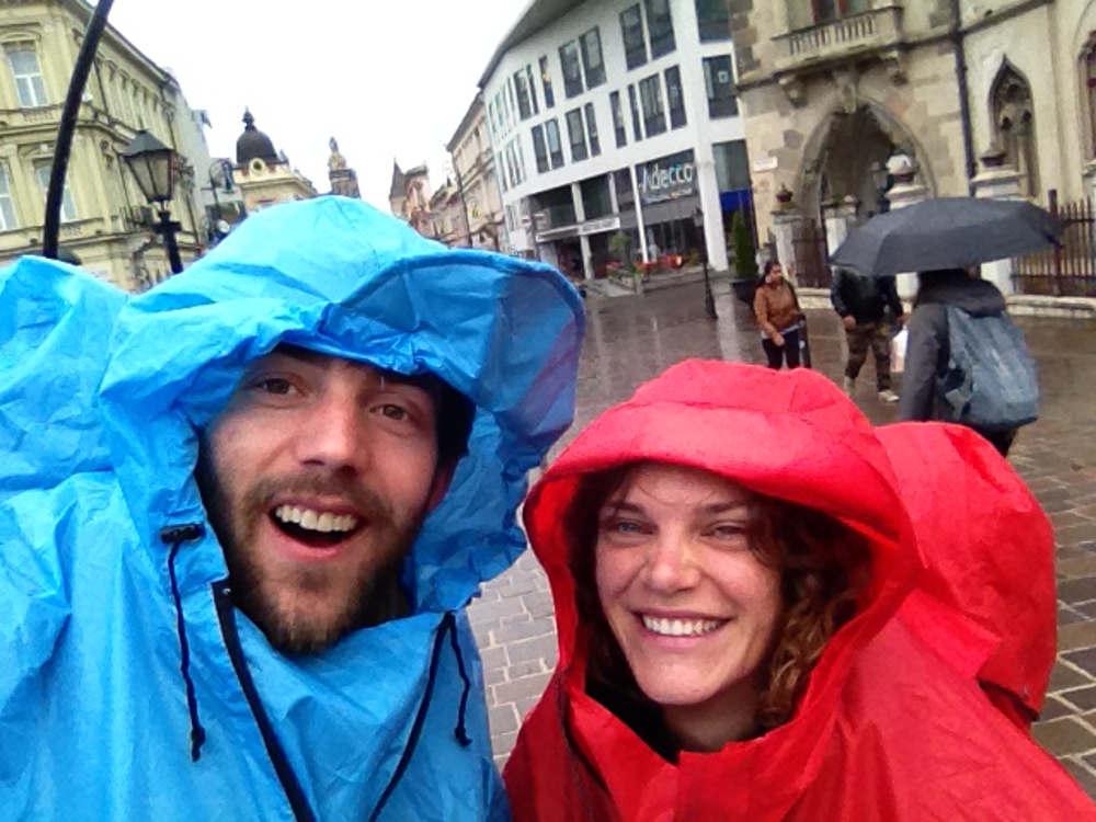 Jeroen & Linda im Regen