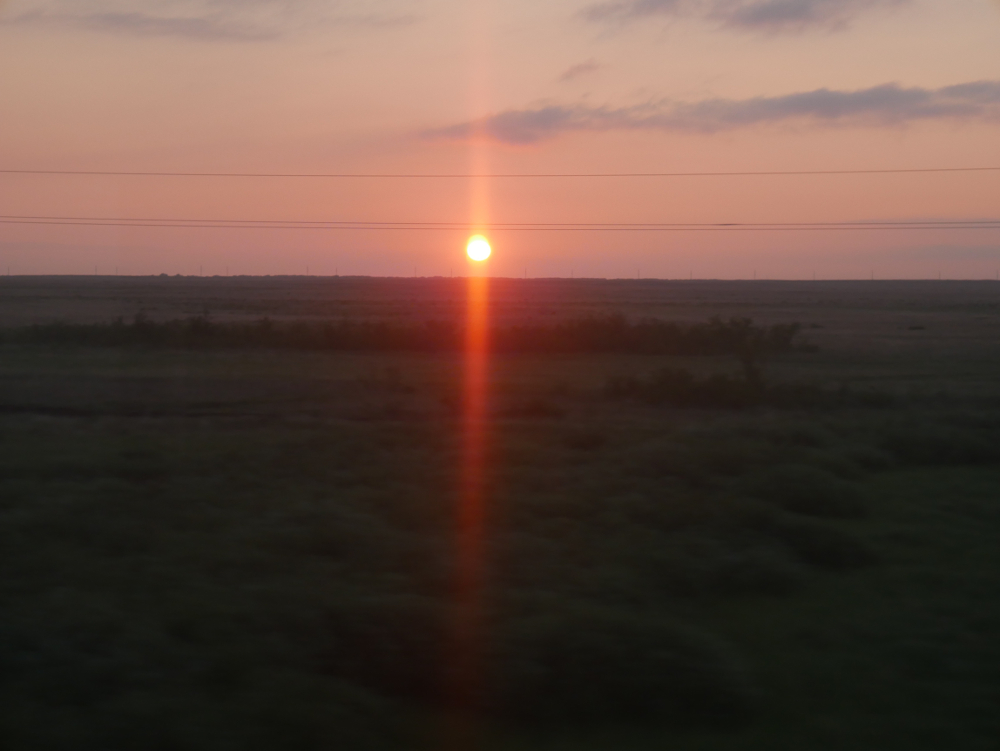 Kazakh sunset
