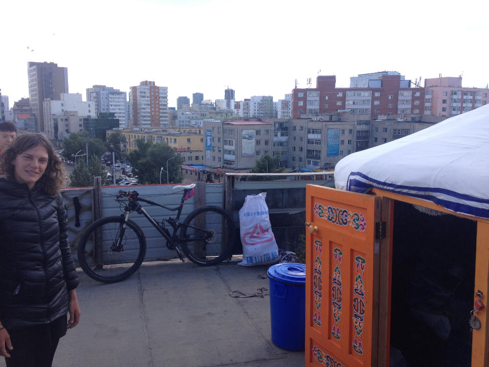 Our rooftop ger in Ulaanbaatar
