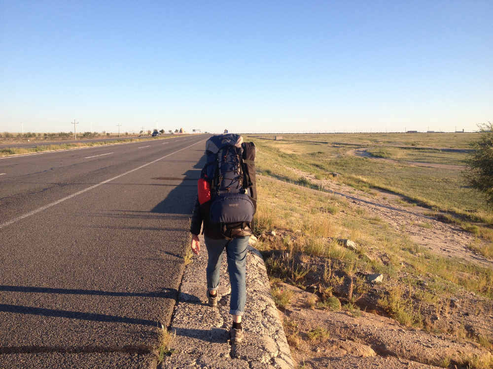 Hitchhiking in CHina's Inner Mongolia